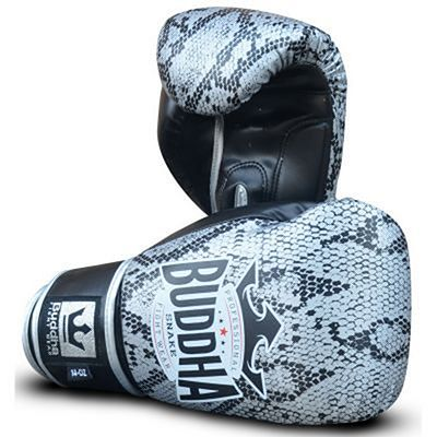 Buddha Snake Boxing Gloves Silver-Black