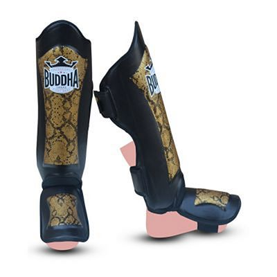 Buddha Special Snake Shinguards Black-Gold