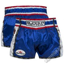 Buddha Muay Thai Shorts Retro Blau