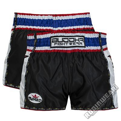 Buddha Sports Kids Muay Thai Shorts Retro Negro