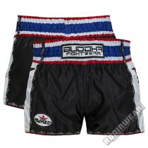 Buddha Sports Kids Muay Thai Shorts Retro Fekete