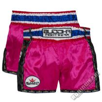 Buddha Muay Thai Shorts Retro Rosa