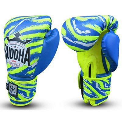 Buddha Stich Kids Boxing Gloves Blue-Yellow