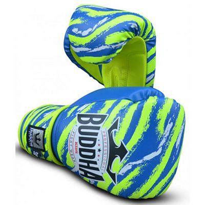 Buddha Stich Kids Boxing Gloves Bleu-Jaune