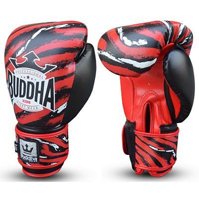 Buddha Stich Kids Boxing Gloves Red