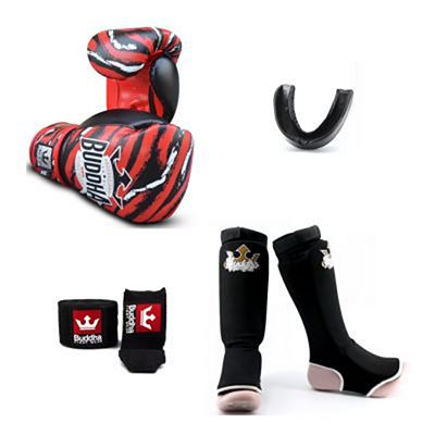 Buddha Stitch Kids Fight Starter Pack Black-Red