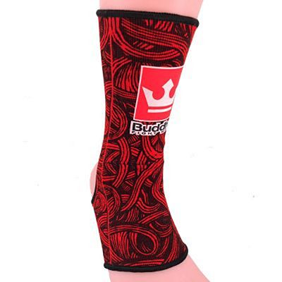 Buddha Tattoo Ankle Supports Red