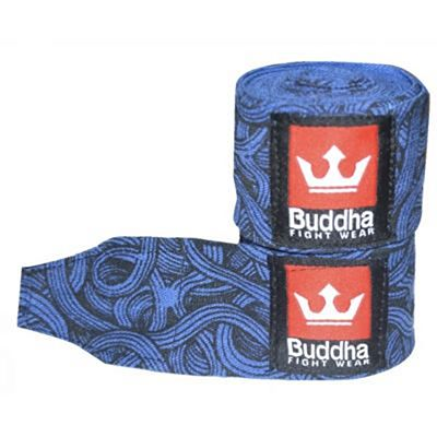 Buddha Tattoo Semi Elastic Boxing Handwraps 450cm Blue