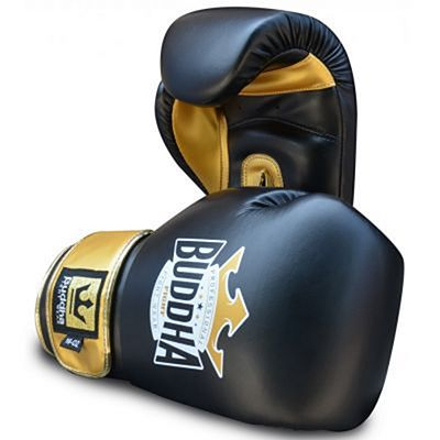 Buddha Top Fight Boxing Gloves Black-Gold