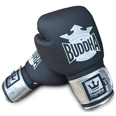 Buddha Top Fight Boxing Gloves Black-Silver