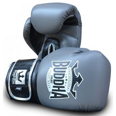 Buddha Top Fight Boxing Gloves Grey-Silver