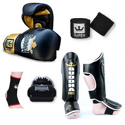Buddha Top Fight Kickboxing Starter Pack Preto-Dourado