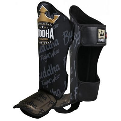 Buddha Top Premium Shinguards Black