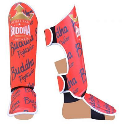 Buddha Top Premium Shinguards Red