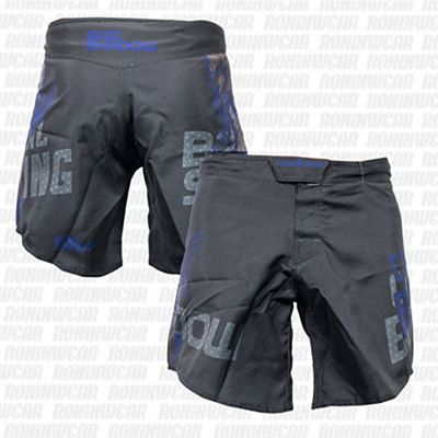 Casual Boxing Bad Shadow Fight Shorts Preto-Azul