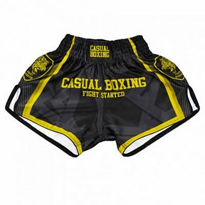 Casual Boxing Kick Shorts Fight Black-Gold