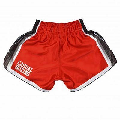 Casual Boxing Kick Shorts Fight Rojo-Negro