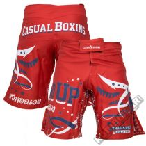Casual Boxing Stand Up Short  Rojo