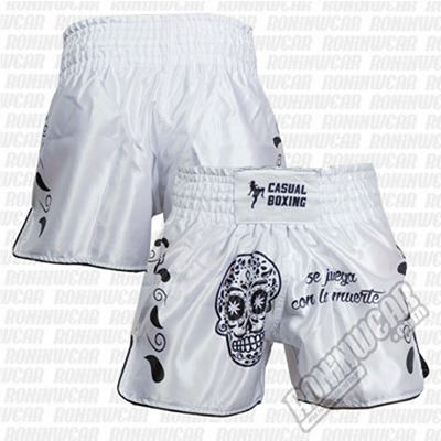 Casual Boxing Thai Short Muerte White