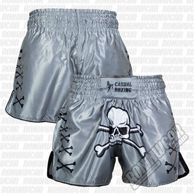 Casual Boxing Thai Short Pirate Cinza