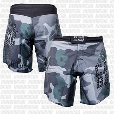 Casual Boxing Train Hard Fight Shorts Camo