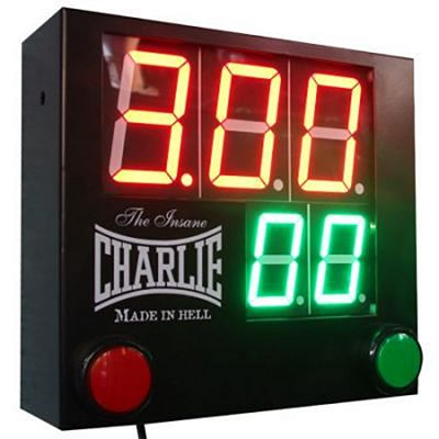 Charlie Boxing 3x1 Boxing Timer Nero