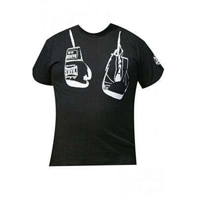 Charlie Boxing Hanging Boxing Gloves T-shirt Black
