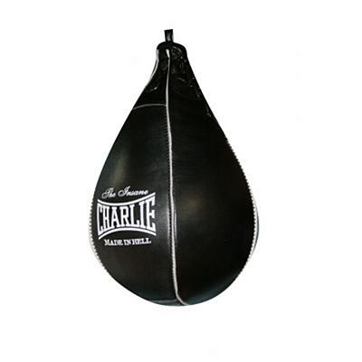 Charlie Boxing Pro Speed Bag Leather Schwarz