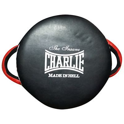 Charlie Boxing Round Punch Shield Black-White