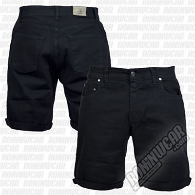 Crossed Denim Shorts Noir
