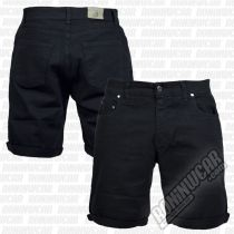 Crossed Denim Shorts Negro