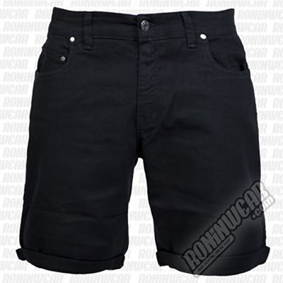 Crossed Denim Shorts Black