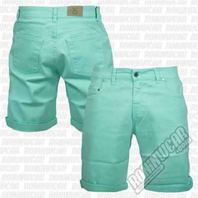 Crossed Denim Shorts Green