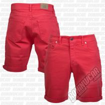 Crossed Denim Shorts Rojo