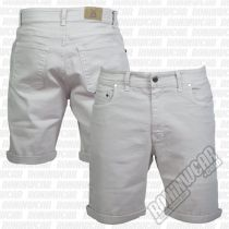 Crossed Denim Shorts Blanco