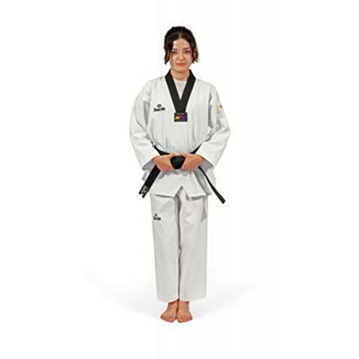 Daedo TA1021 Dobok WTF Style With Black Collar Bianco