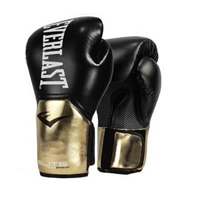Everlast Elite Pro Style Training Gloves Black-Gold