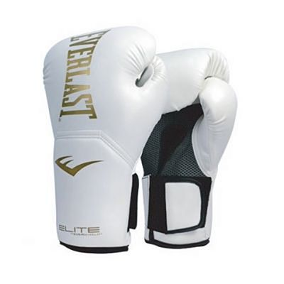 Everlast Elite Pro Style Training Gloves White