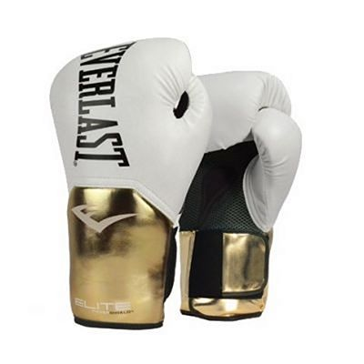 Everlast Elite Pro Style Training Gloves White-Gold