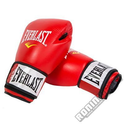 Everlast Leather Boxing Gloves Fighter Red-Black