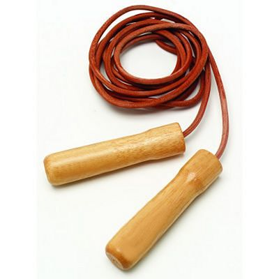 Everlast Leather Jump Rope Wooden Handles