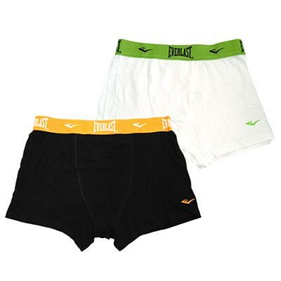 Everlast Mens 2 Pack Bright Boxers White-Black