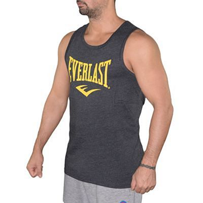 Everlast Mens Logo Vest Charcoal Grey-Yellow