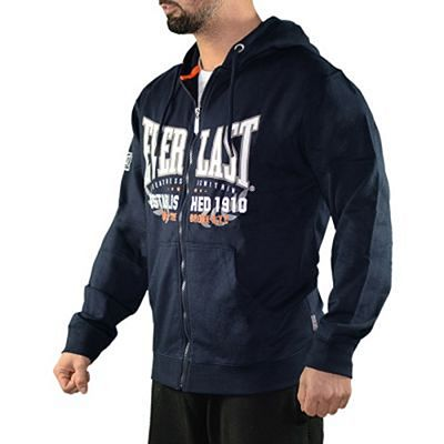 Everlast Mens Zip Through Hoody Azul Marinho