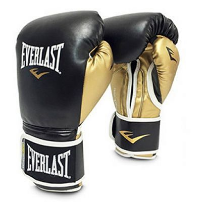 Everlast Powerlock Pro Training Gloves Velcro Negro-Oro