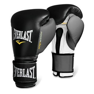 Everlast Powerlock Pro Training Gloves Velcro Negro-Gris