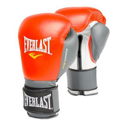 Everlast Powerlock Pro Training Gloves Velcro Rojo-Gris
