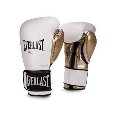 Everlast Powerlock Pro Training Gloves Velcro Blanco-Oro