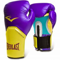 Everlast Pro Style Elite Gloves Purple-Yellow