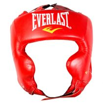 Everlast Pro Traditional Headgear Piros